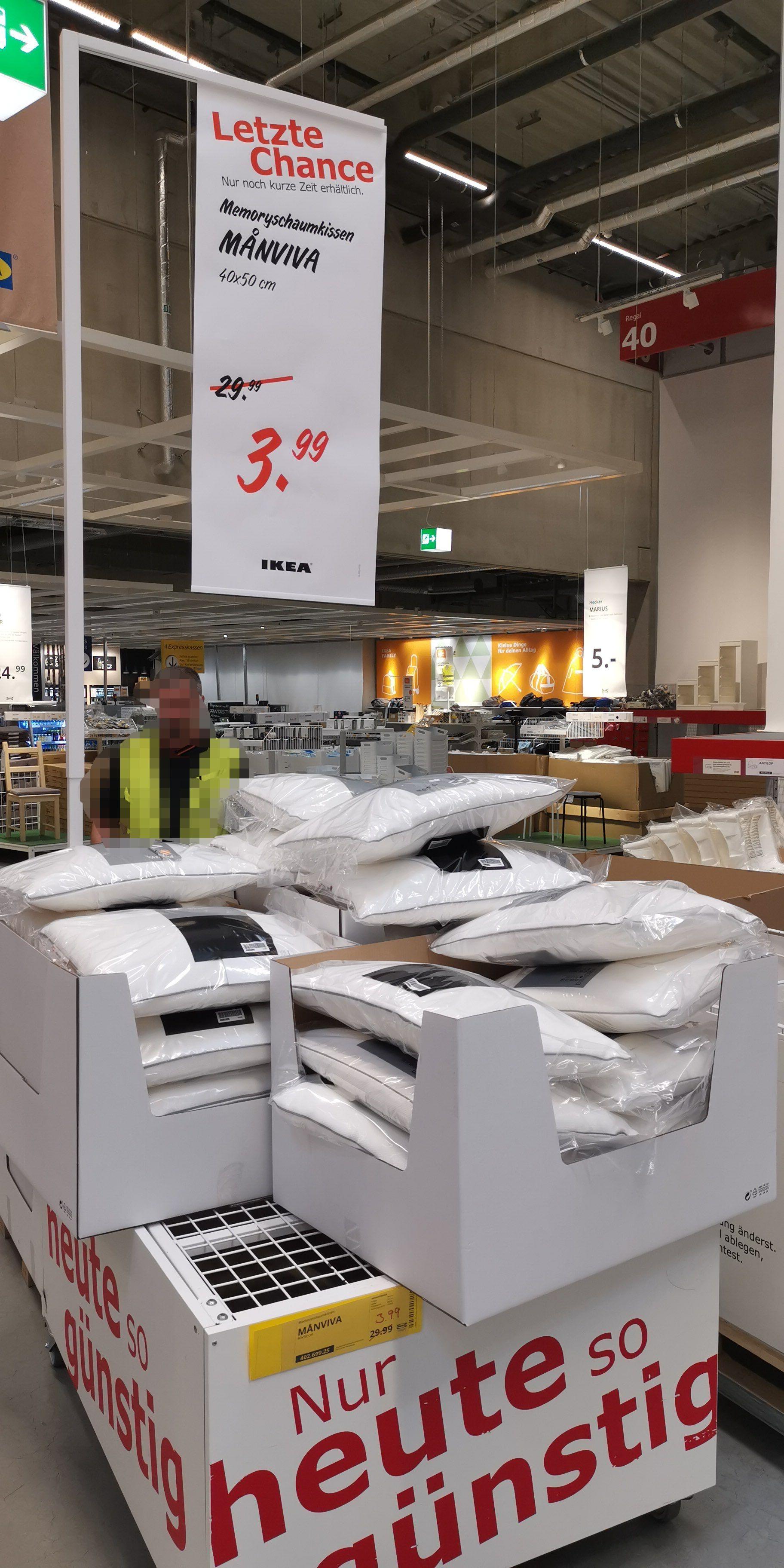 [Lokal] IKEA Würzburg MANVIVA Memoryschaumkissen