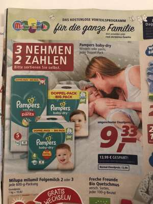 [real] Pampers baby-dry 3 nehmen 2 zahlen