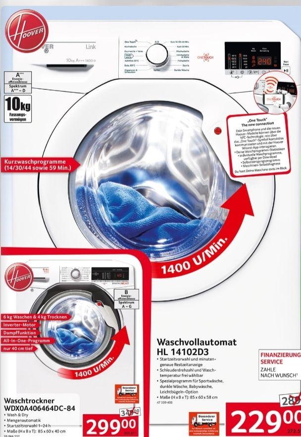 [SELGROS bundesweit] Hoover HL 14102D3-S Waschvollautomat A+++ 10KG 1400U/Min NFC