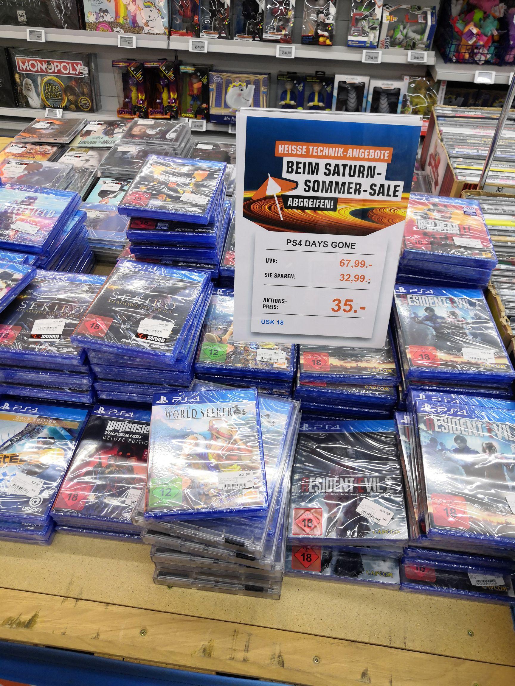 [KA-Durlach-Center Saturn] PS4 Sekiro, Resident Evil 2, Red Dead 2, Days Gone & weitere ab 25 €