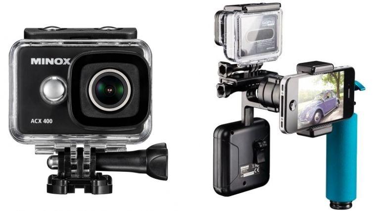 Minox ACX 400 WiFi Action Cam + Action Camera Gimbal + Zubehörkit