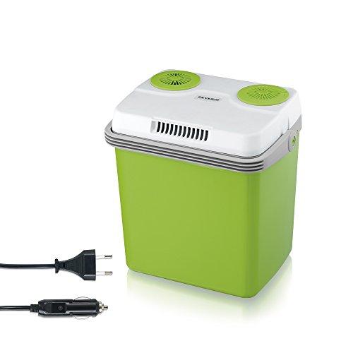 SEVERIN Elektrische Kühlbox mit Kühl- und Warmhaltefunktion, 20 L,  Inkl. 2 Anschlüsse: 220-240V/12V DC, Grün-Grau Energieklasse A++