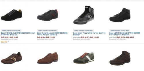 Günstige Geox Schuhe bei amazon.de - teilweise über 50% Rabatt