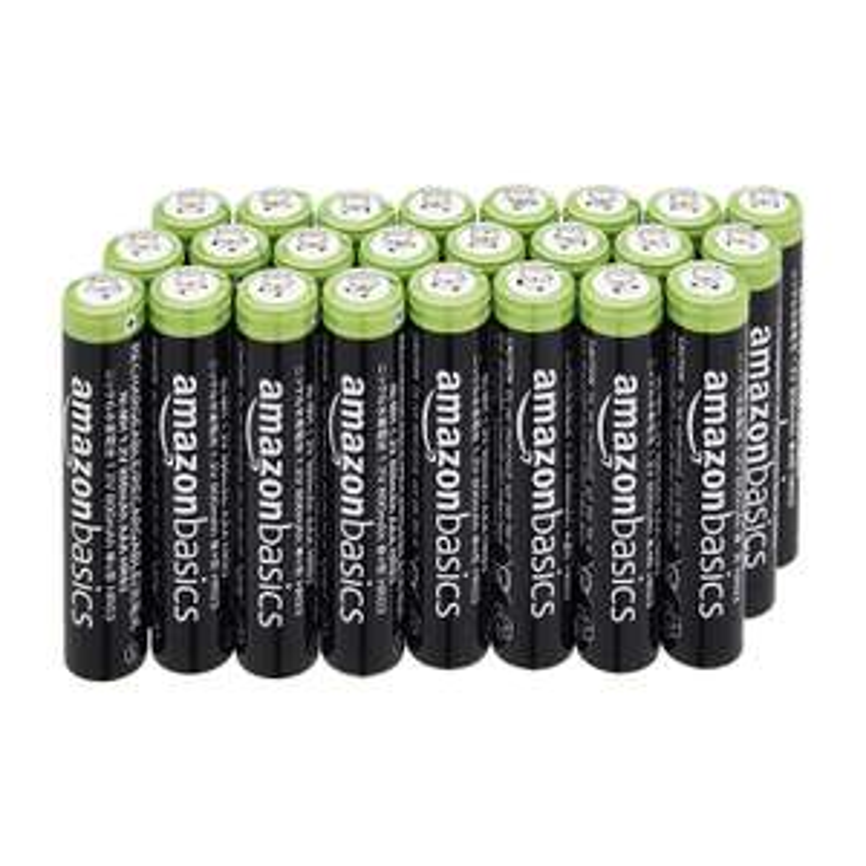Neuer Tiefpreis  24er-Pack wiederaufladbare AAA-Batterien mit 800 mAh Prime oder kostenlose Lieferung in div. Abholstationen