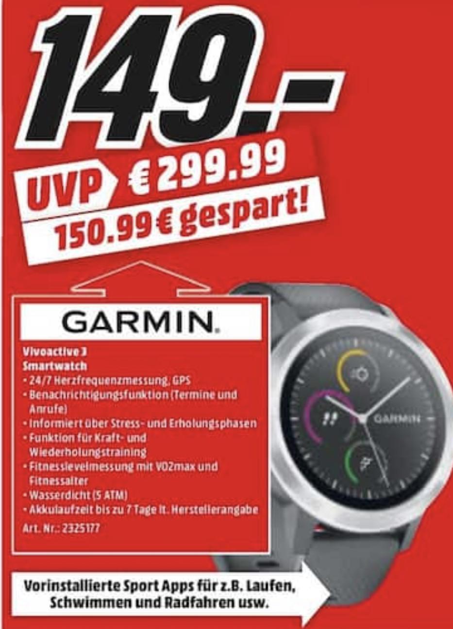 [Lokal: Media Markt Heilbronn] GARMIN vívoactive 3 silber-schwarz | Surface Go 4GB/64GB + Type Cover + Office =399€ | LG OLED65C8 = 1799€