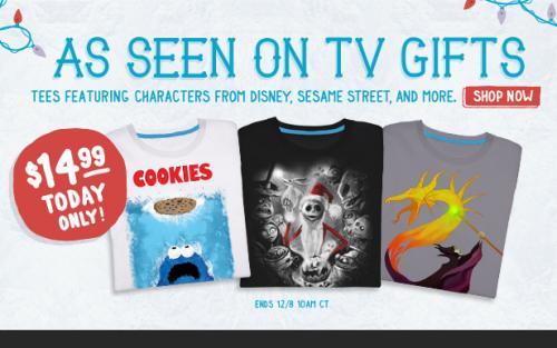 Threadless SALE T-Shirts von Disney,Nightmare before Christmas,Sesamstrasse und mehr