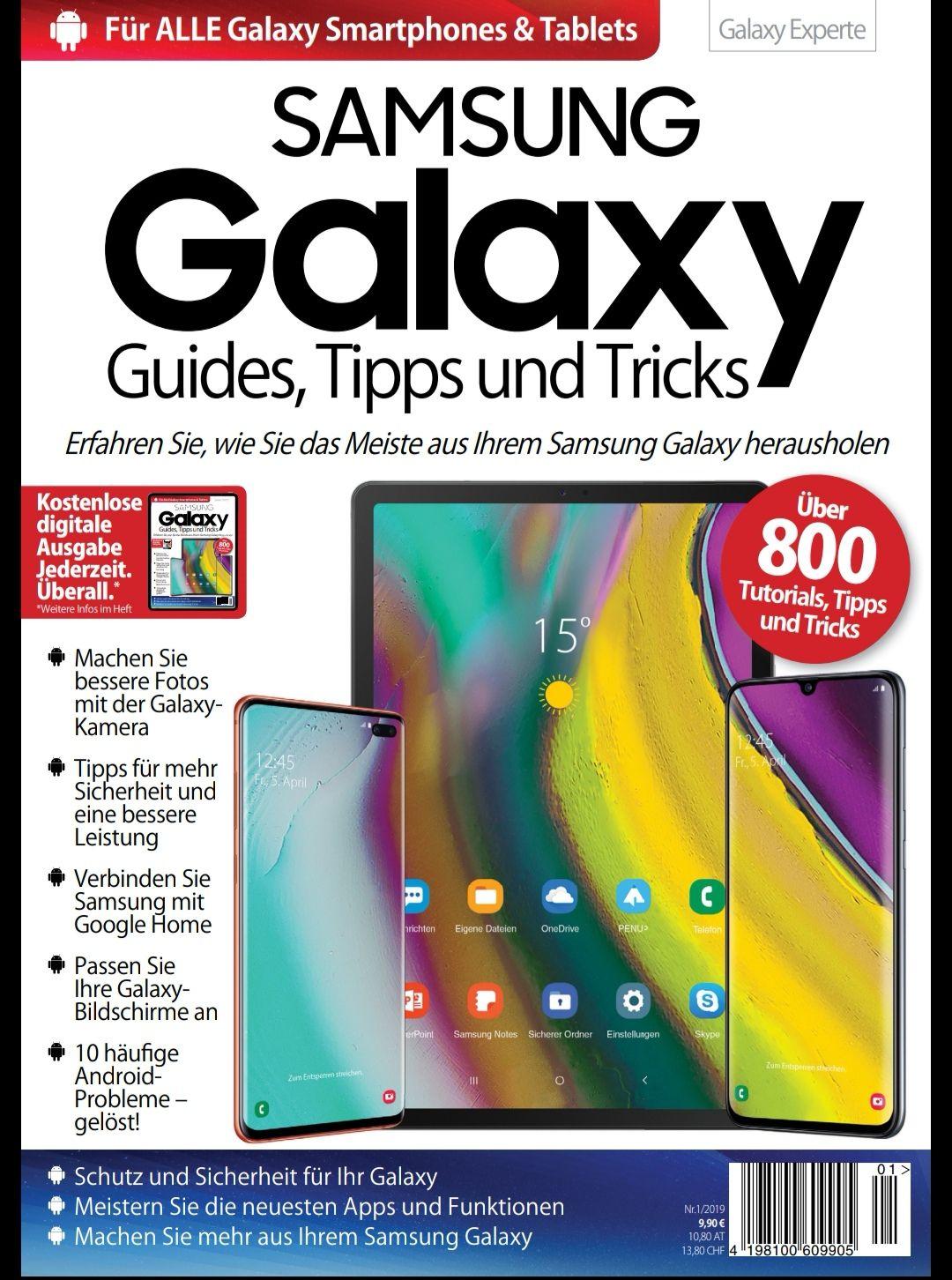 Samsung Galaxy Guides Tipps und Tricks - epaper für alle Samsung Handy und Tab