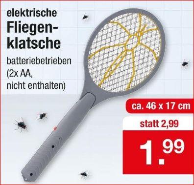 Elektrische Fliegenklatsche für 1,99 Euro [Zimmermann]
