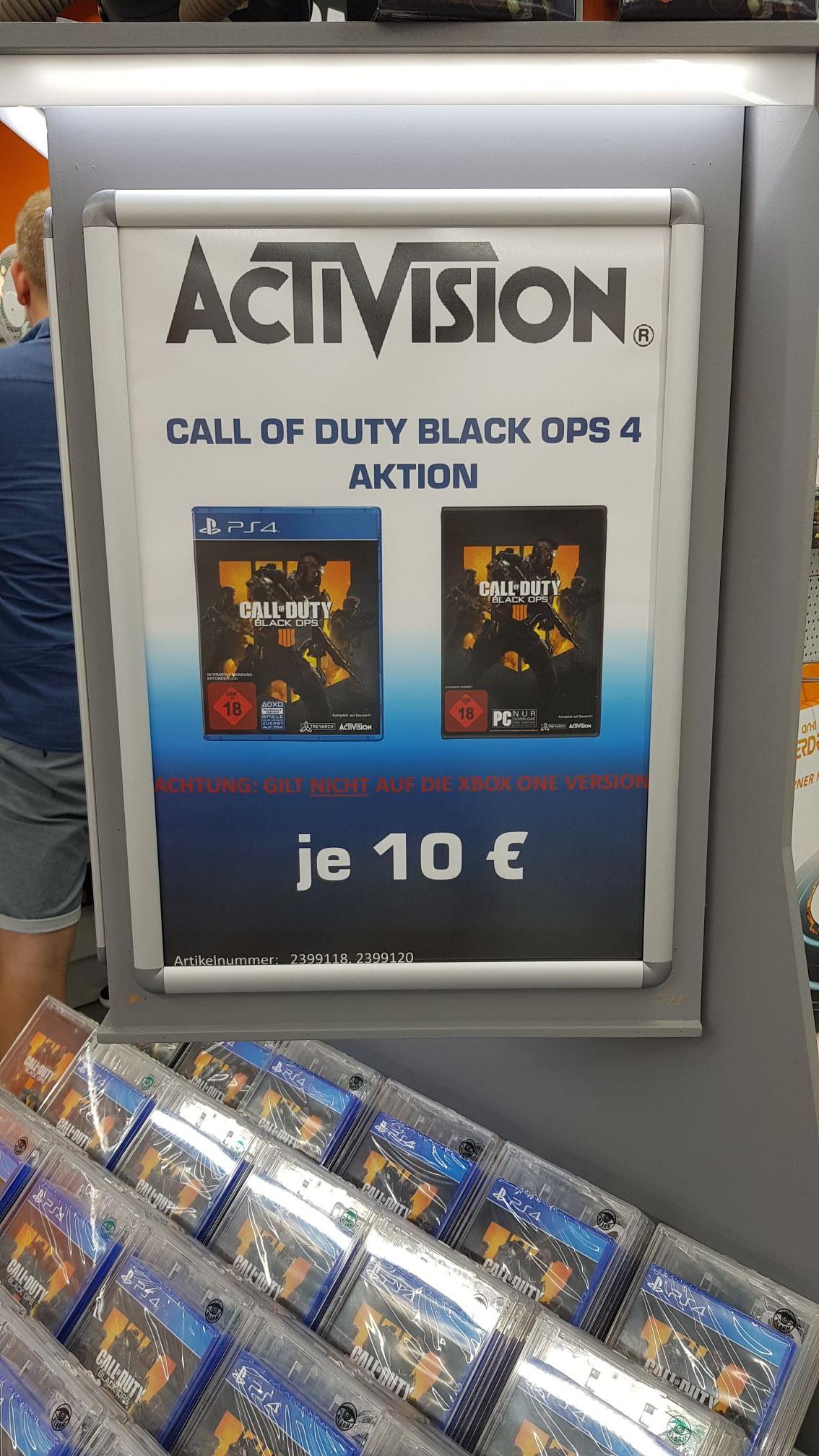 [Lokal Saturn München Neuhauserstraße] Call of Duty: Black OPS 4 (PS4 & PC)