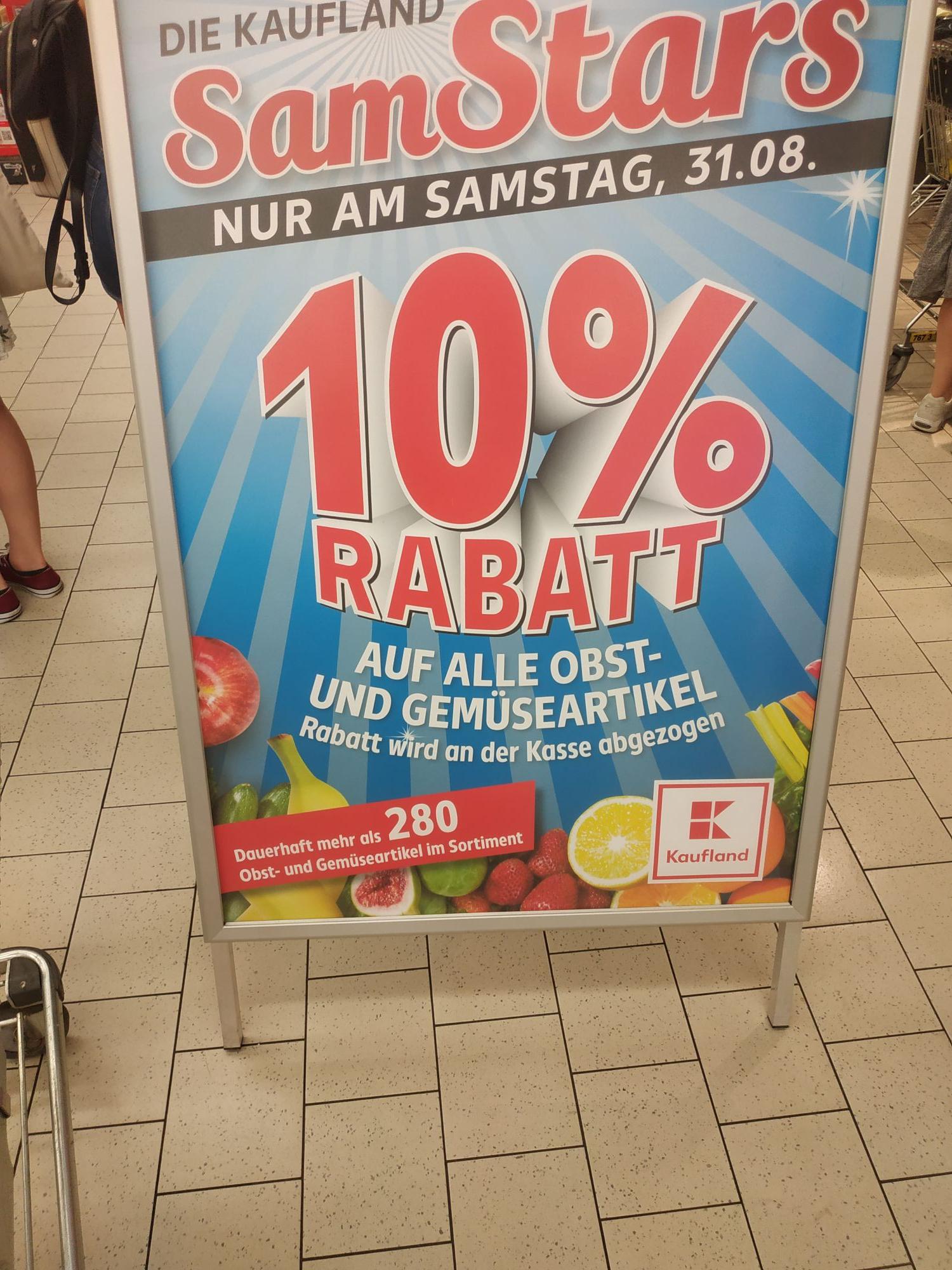 Kaufland Leipzig: -10% auf Obst und Gemüse
