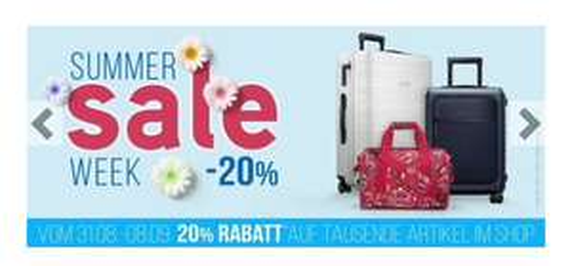 20% bei Koffer-direkt.de u.a. Rimowa Essential Lite Cabin S