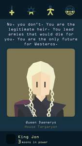 ***Letzter Tag*** [Android] Reigns: Game of Thrones (Tinder'eskes Kartenspiel)