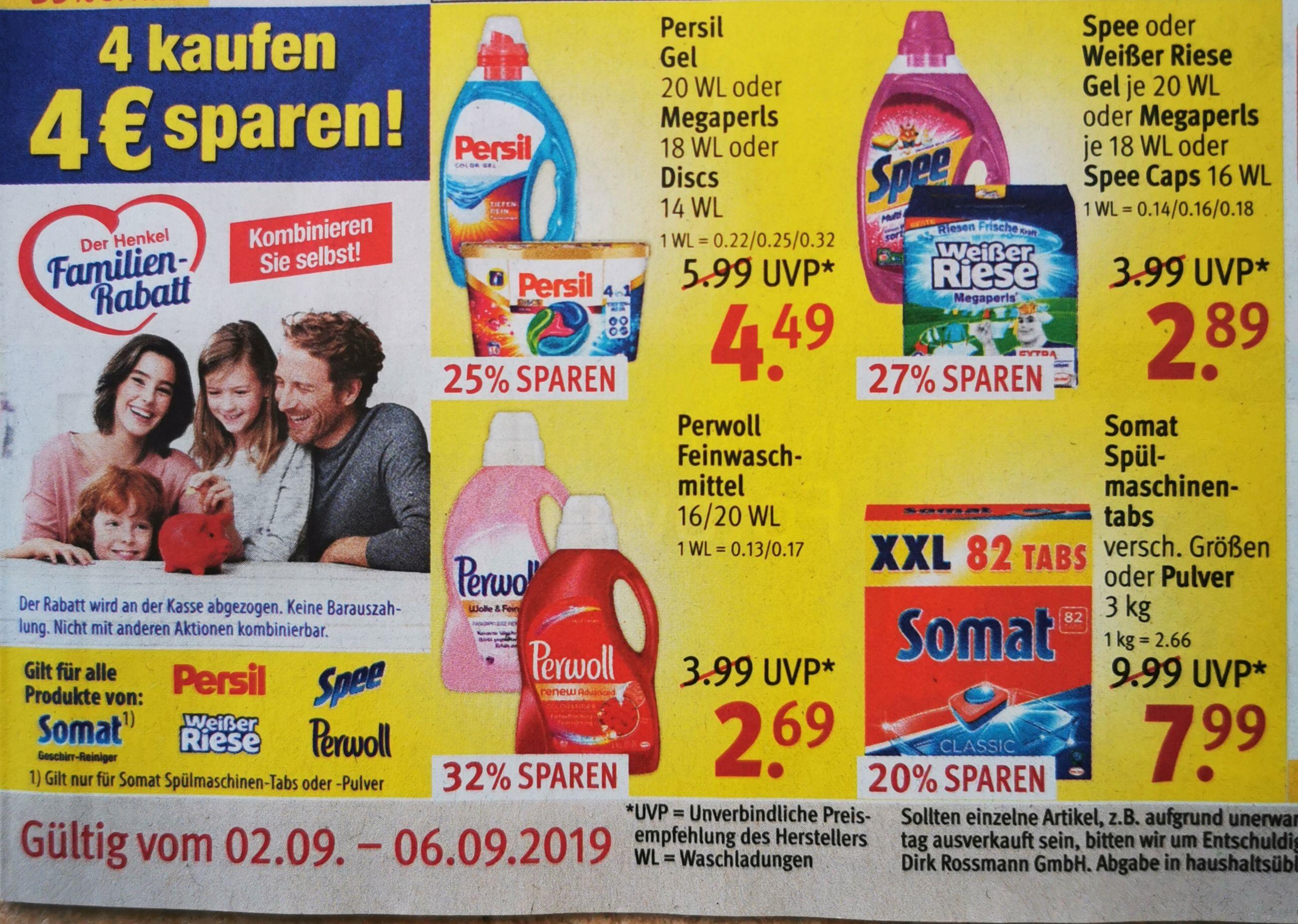 Rossmann Angebote mit Henkel Familienrabatt