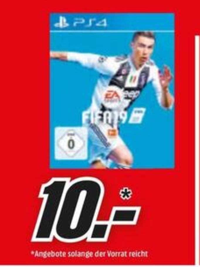 (Regional Mediamarkt Eschweiler-Nur heute) Fifa 19 ( Playstation 4) für 10€