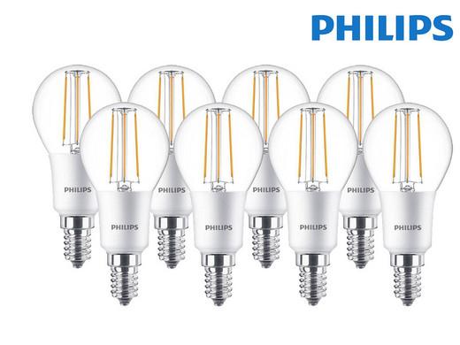 8x Philips dimmbare LED Classic E14-Leuchtmittel für 7,95€ + 5,95€ VSK (5 Watt, 470 Lumen, 2700 K, warmweiß) [iBOOD]