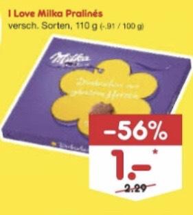""""""" 1€ """" Milka Pralinés am 7.9.19 bei Netto"""