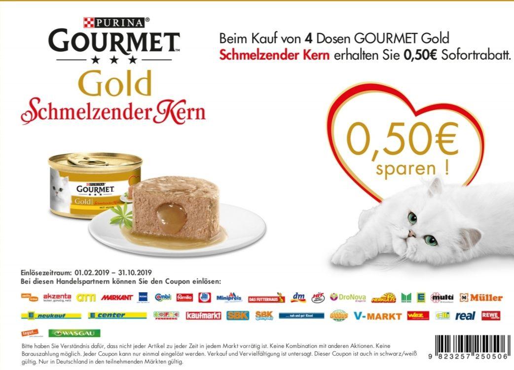 Gourmet Gold Schmelzender Kern (4 Packungen) (Danke Edeka/Rewe + Coupon)