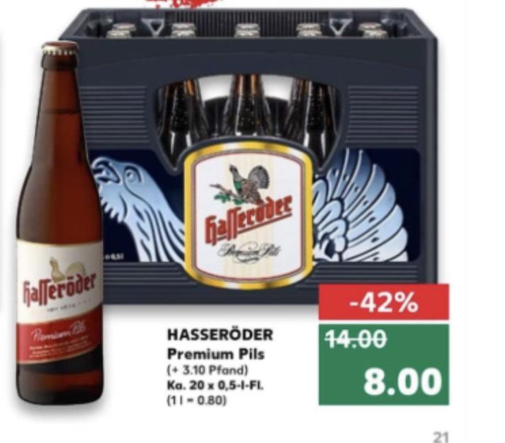 Hasseröder Premium Pils Kiste 8,- Kaufland