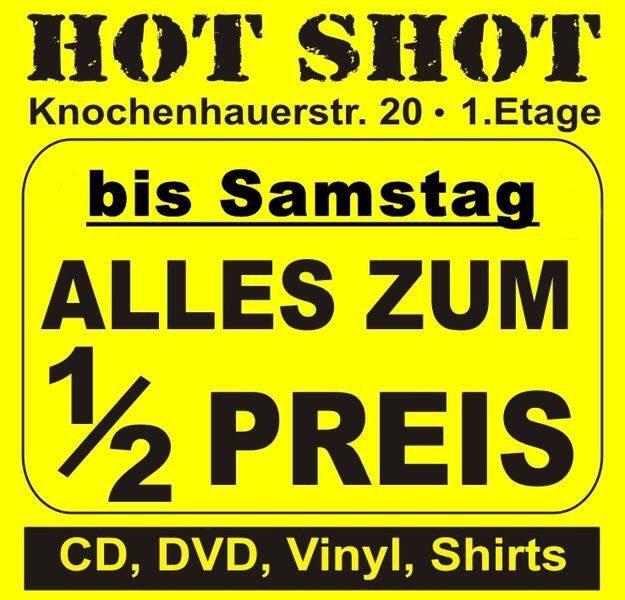 [ lokal - Bremen ] 50% auf Alles bei Hot Shots bis Samstag (CD, DVD, Vinyl, Shirts)