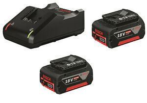 Bosch Starter-Set Ladegerät GAL 18V-40 + 2 Akku GBA 18V 4,0AH Professional