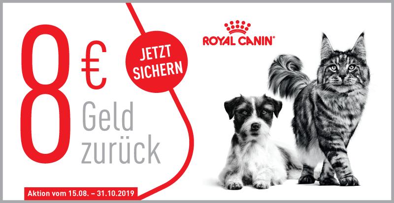Royal Canin - beim Kauf von einem mind. 4kg-Gebinde gibts 8 Euro Cashback