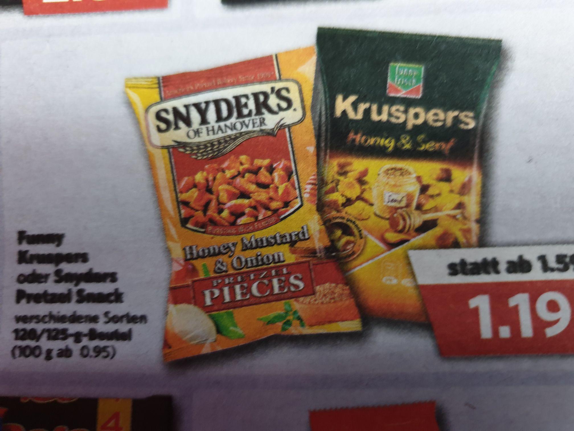LOKAL (Combi-/Jibi-Markt) Snyders of Hanover Pretzel Snack für 1,19€