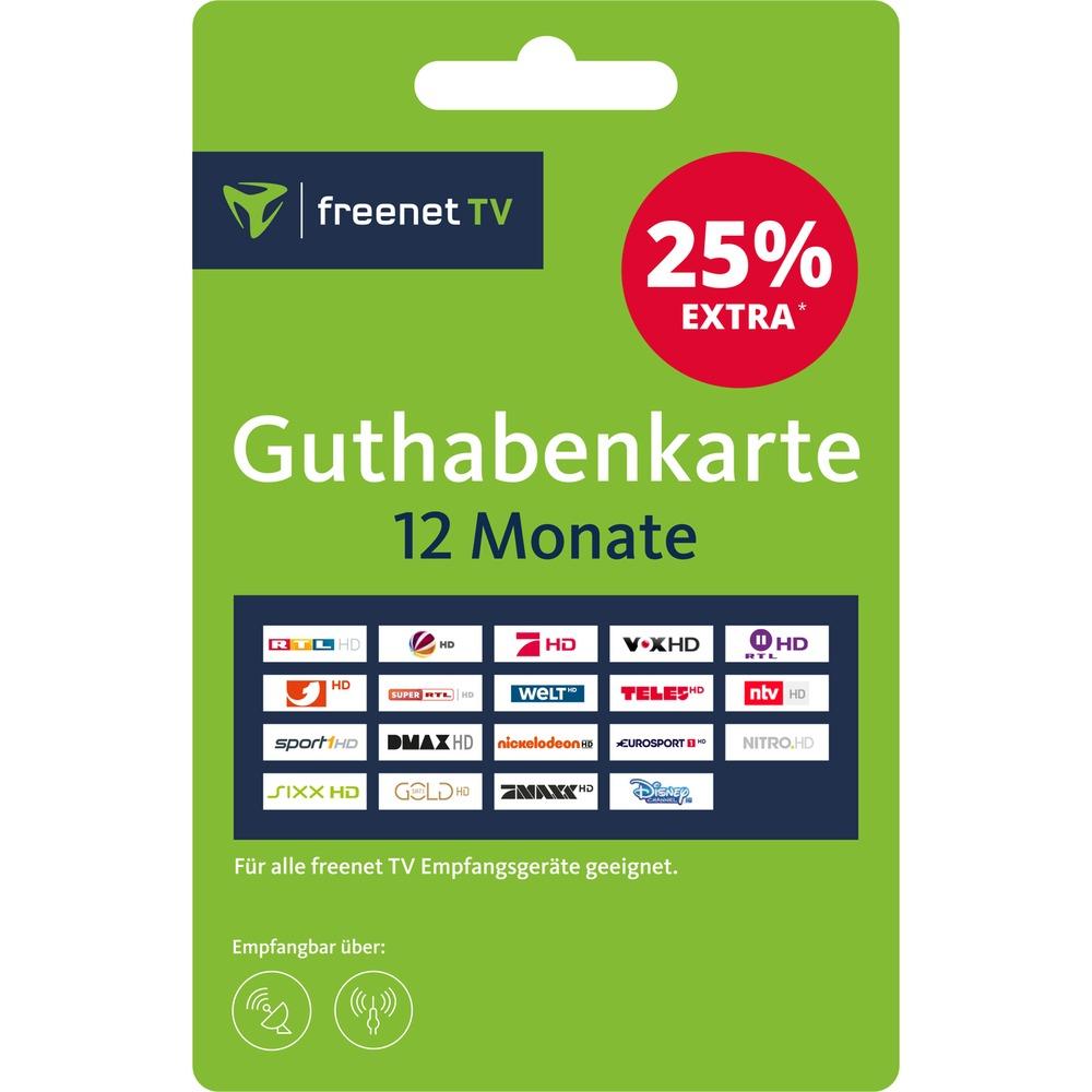 freenet TV Guthabenkarte - Voucher Gutschein für 12 Monate 55,20€