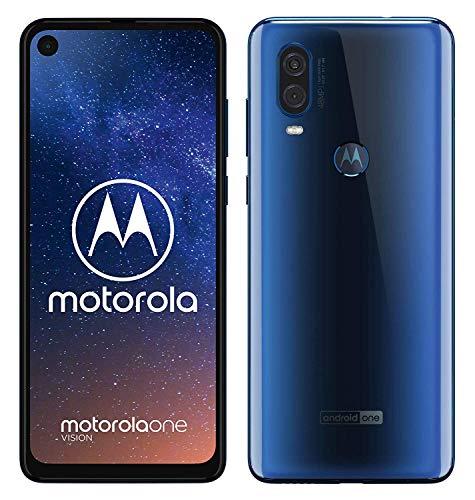 Motorola One Vision (128GB, Sapphire Blue, 48-MP) + Schutzcover [Amazon]