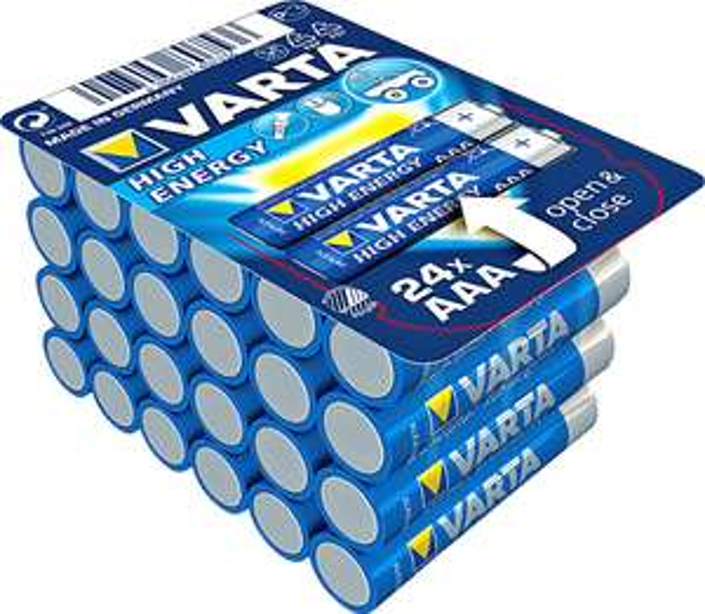 Varta High Energy Batterien AA oder AAA - 24 Stück
