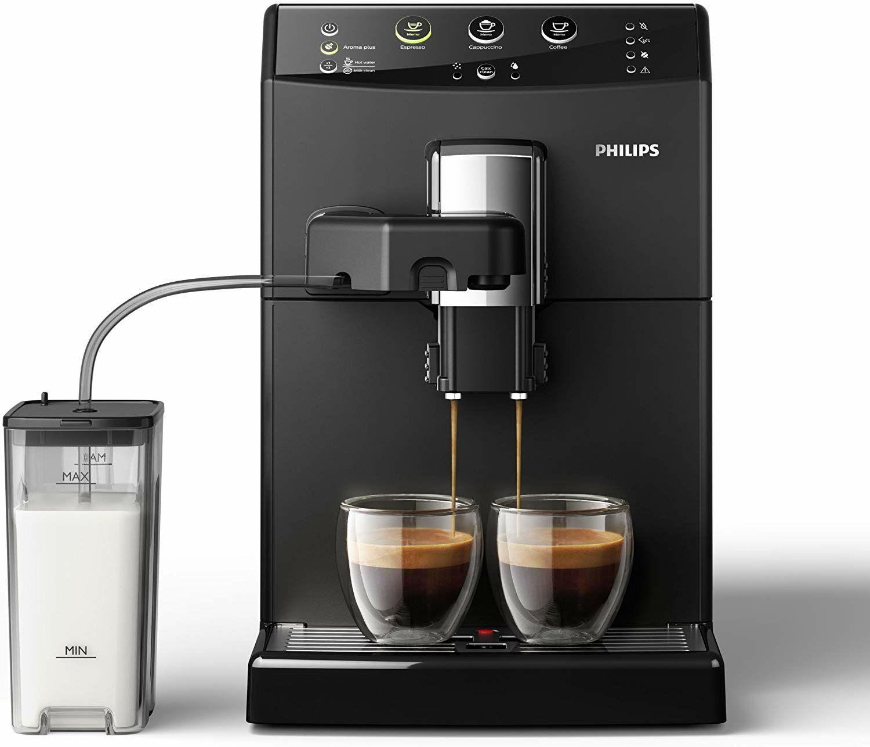 Philips Kaffeevollautomat Series 3000 HD8829/01 Easy Cappuccino, mit Scheibenmahlwerk, schwarz