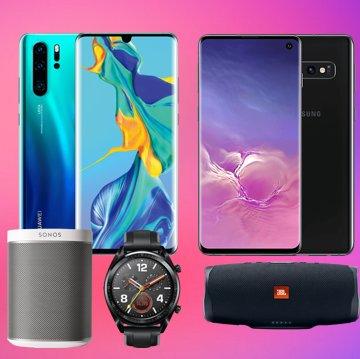 Telekom Magenta Mobil M + Huawei P30 Pro + Watch GT + Sonos Play:1 od. Samsung Galaxy S10 + JBL Charge 4: z.B. Young MagentaEINS für 883,74€