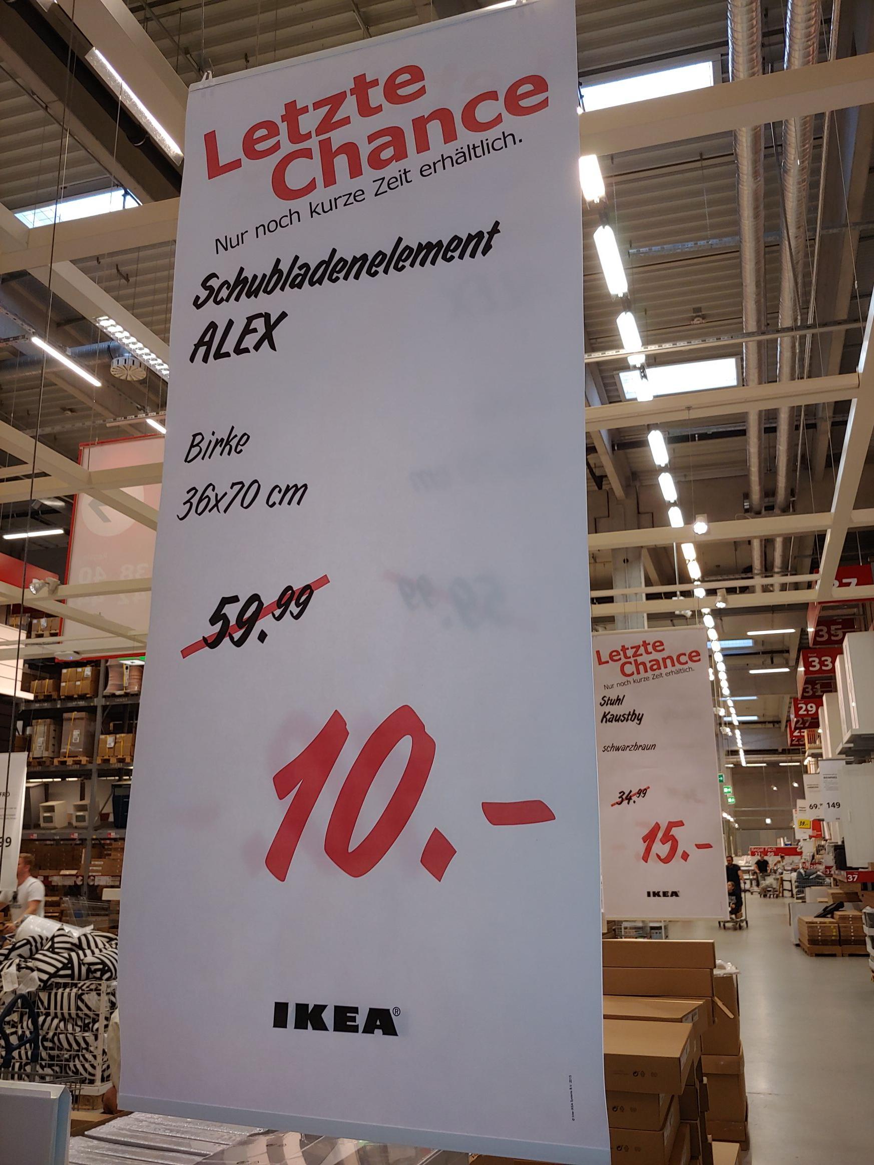 (Ikea Berlin-Lichtenberg) Schubladenelement ALEX, Birke, 36x70