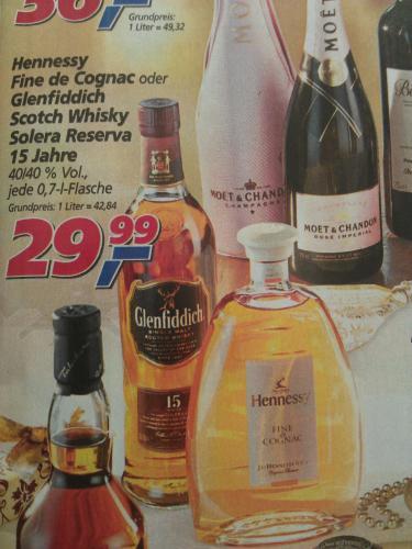Glenfiddich Scotch Whisky 15 Jahre 29,99 (Real)