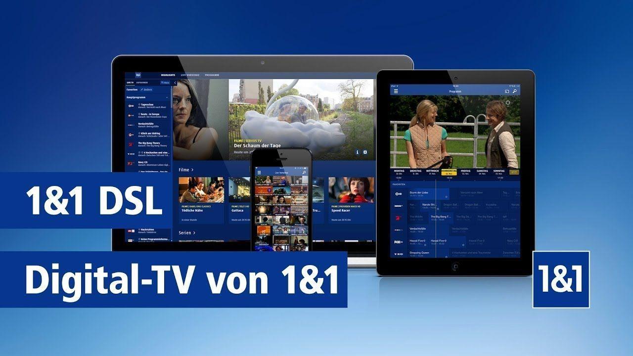 1&1 Digital-TV Basic (HD Sender) dauerhaft kostenlos inklusive zu jedem VDSL Vertrag bei 1&1 (Neukunden und Verlängerung)