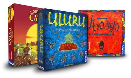 Spiele für den Bunker: z.b. Die Siedler von Catan, Ubongo und Uluru zusammen für 54,99