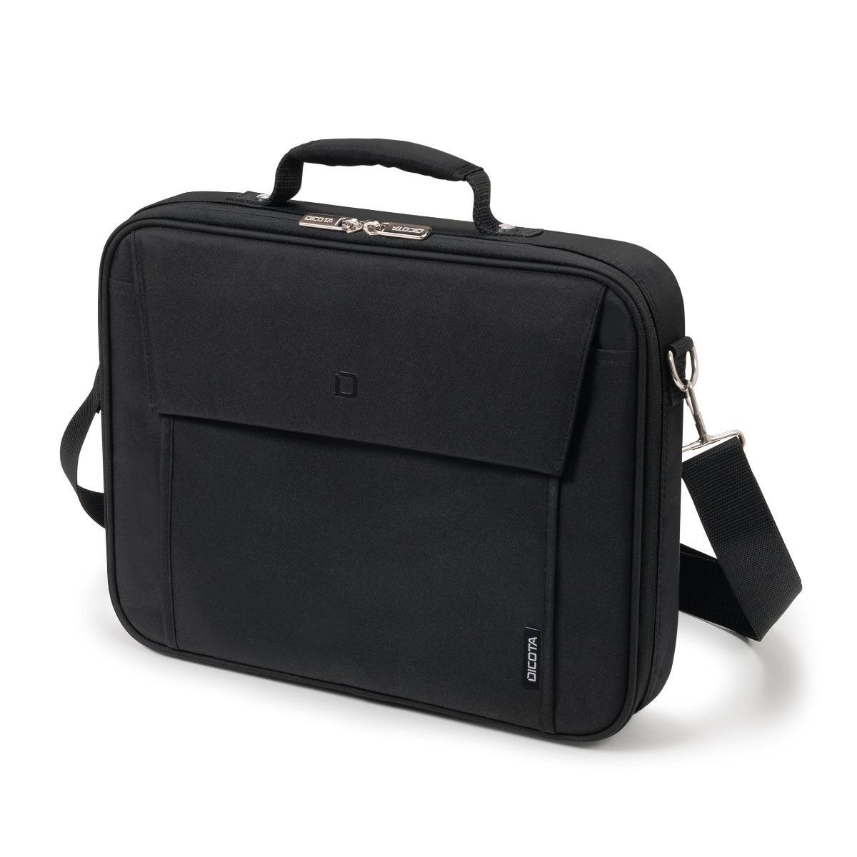 """Notebook-Tasche Dicota Multi Base (bis 17.3"""", Polyester, Reißverschluss, abnehmbarer Schultergurt, Außentasche vorne, Tragegriff)"""