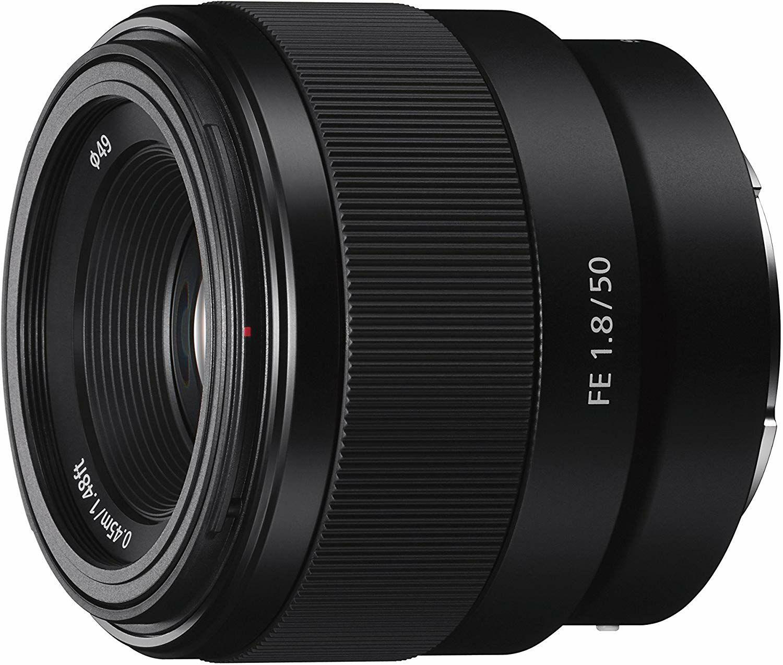 Sony SEL-50F18F Standard Objektiv (Festbrennweite, 50 mm, F1.8, Vollformat, schwarz // SEL-55210 für 196,40€ statt 245,99€