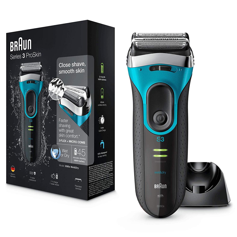 Braun Series 3 3080s Elektronischer Nass- und Trockenrasierer