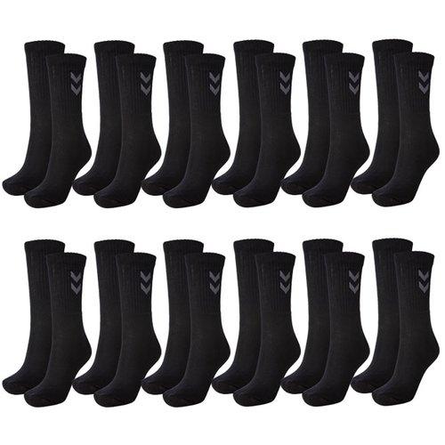 hummel 12 Paar Basic Sportsocken in weiß oder schwarz in 4 Größenpaaren