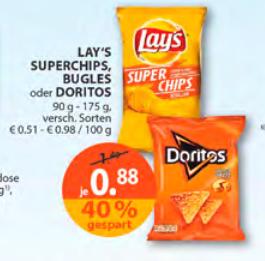 Doritos Chips bei Müller - offline