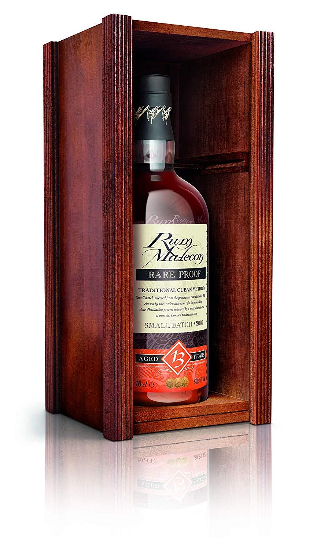 Rum Malecon 13 Years Old Rare Proof in Holzkiste   0,7l 50,5% + Malecon 12 Miniatur bei [Rakuten.de] mittels Masterpass-Gutschein