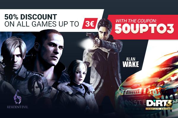 50% auf alle Spiele bis 3€ bei Gamivo: z.B. Minecraft, Doom 3, Darksiders, To the Moon, The Walking Dead, uvm.