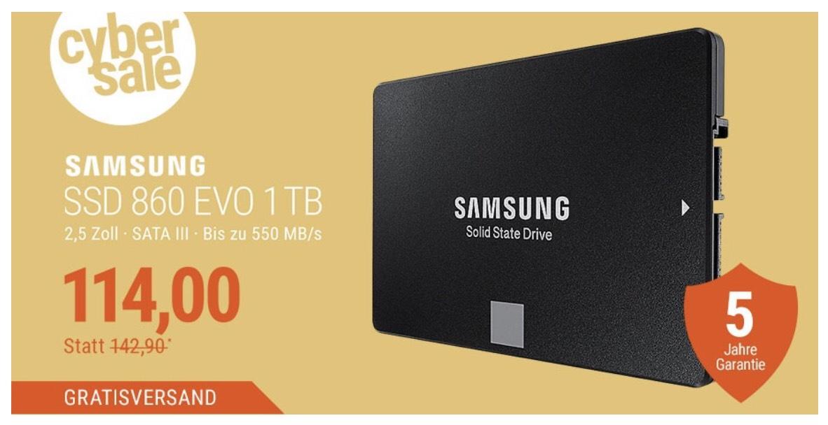 Samsung Evo 860 1TB bei Cyberport