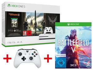 Xbox One S 1TB Tom Clancy's: The Division 2 Bundle + 2. Controller + Battlefield V