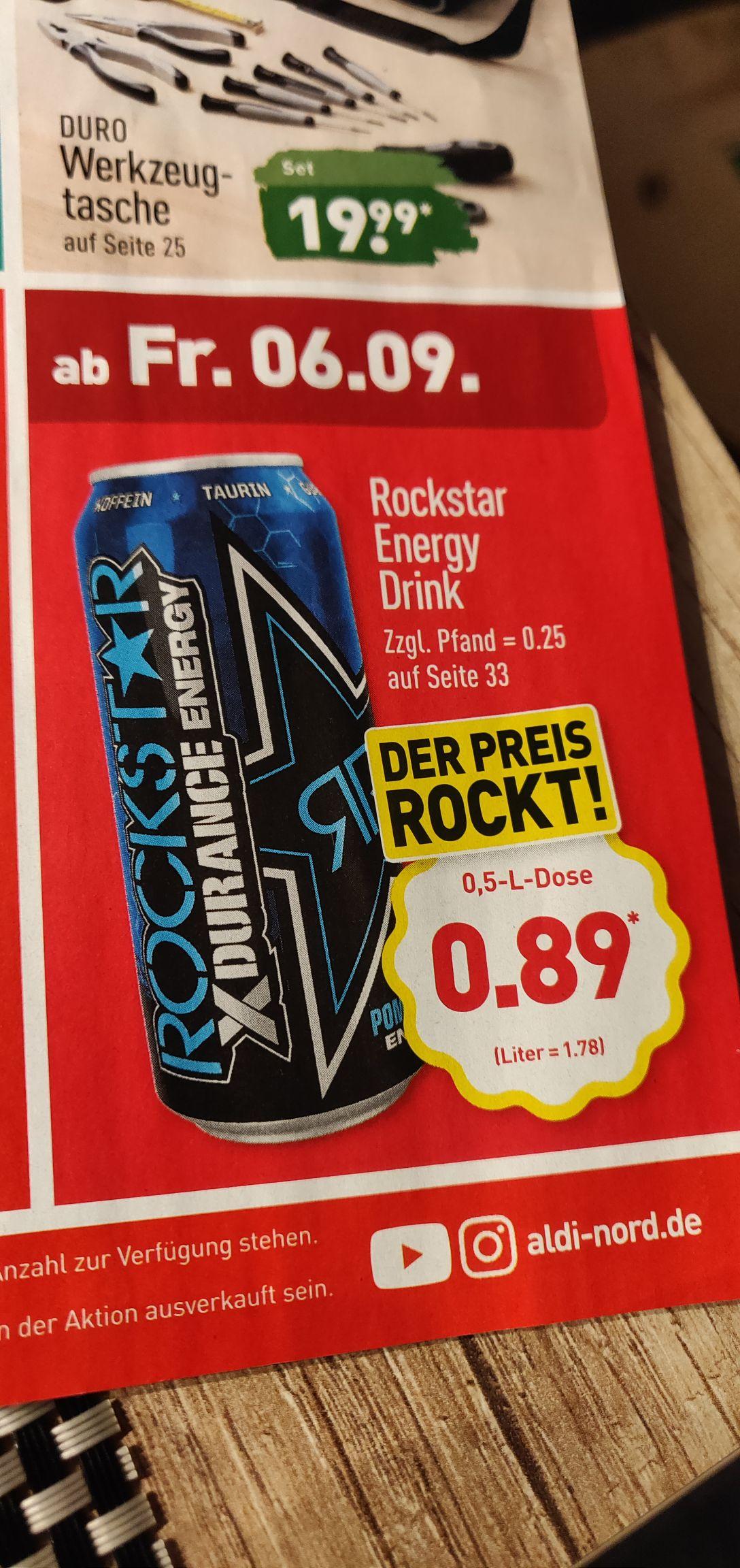 Aldi Nord - Rockstar Energy verschiedene Sorten