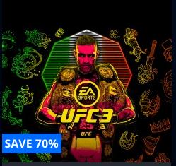 PSN US & CA - UFC 3 (EA Sports) für 5,38 € oder Deluxe Variante für 8,08 €