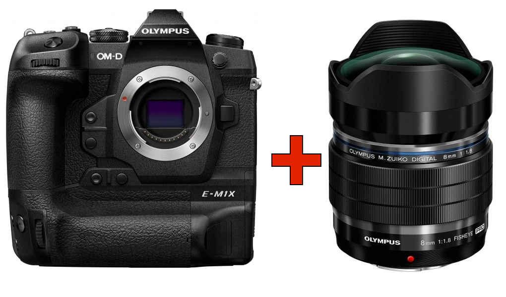 Cashback-Aktion von Olympus vom 01.09.-31.10.     Z.B. E-M1X Kamera inkl. 8mm 1:1,8 ED PRO Fisheye Objektiv