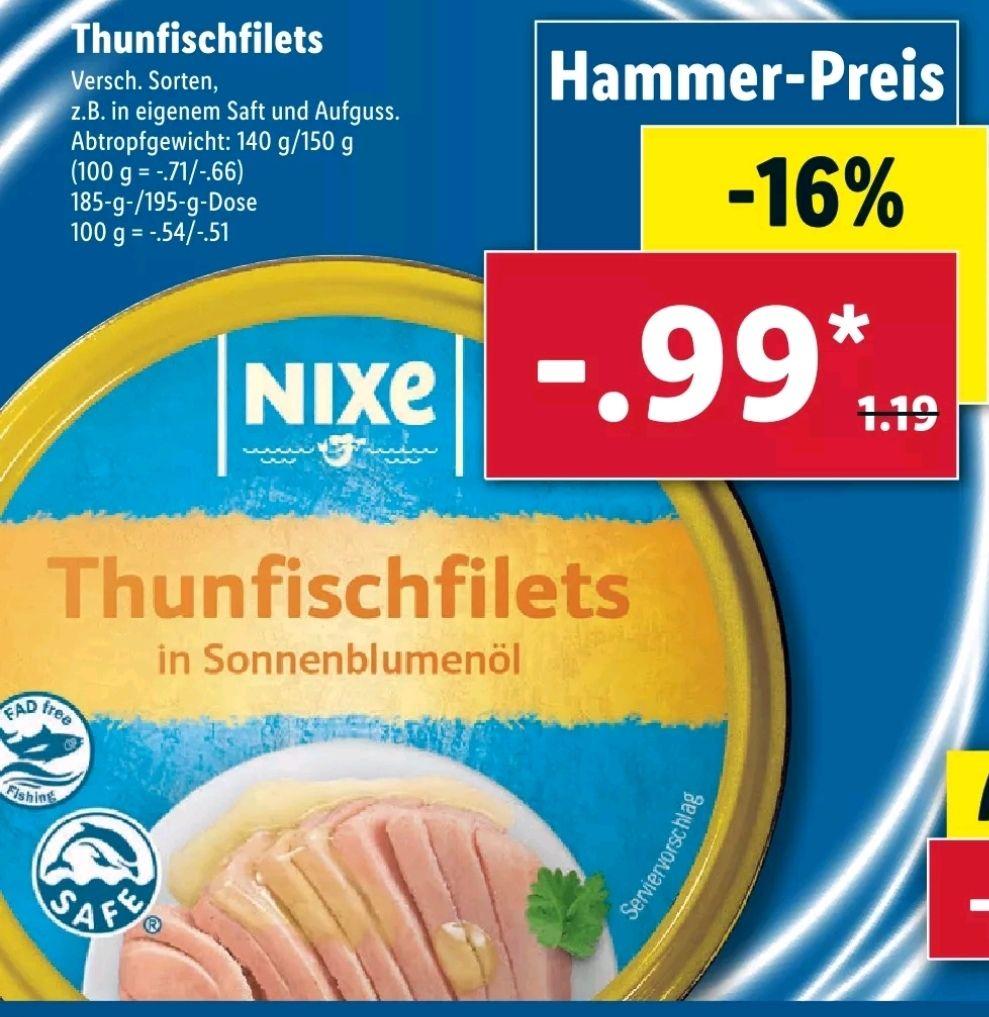 [LIDL] Thunfischfilets für 0.99€ die Dose