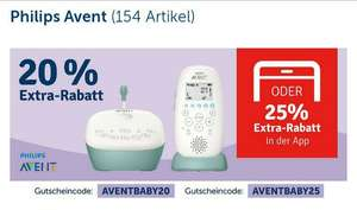 MyToys 20%(25% in App) auf  Philips Avent Babyzubehör