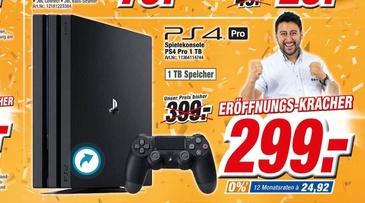 [Lokal] Sony PlayStation 4 Pro Konsole - 1TB (K+B Expert Amberg / Neueröffnung)